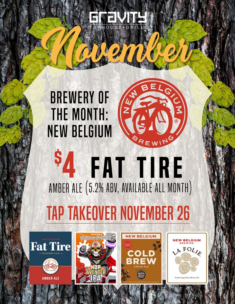 Gravity's Brewery of the Month is New Belgium Brewing