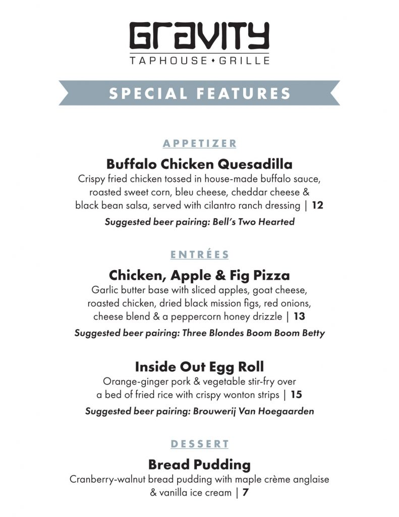 Check out our chef's latest special features!